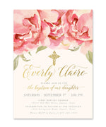 Everly: Baptism Invitation {Pink}