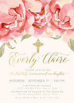 Everly: First Communion Invitation {Pink}