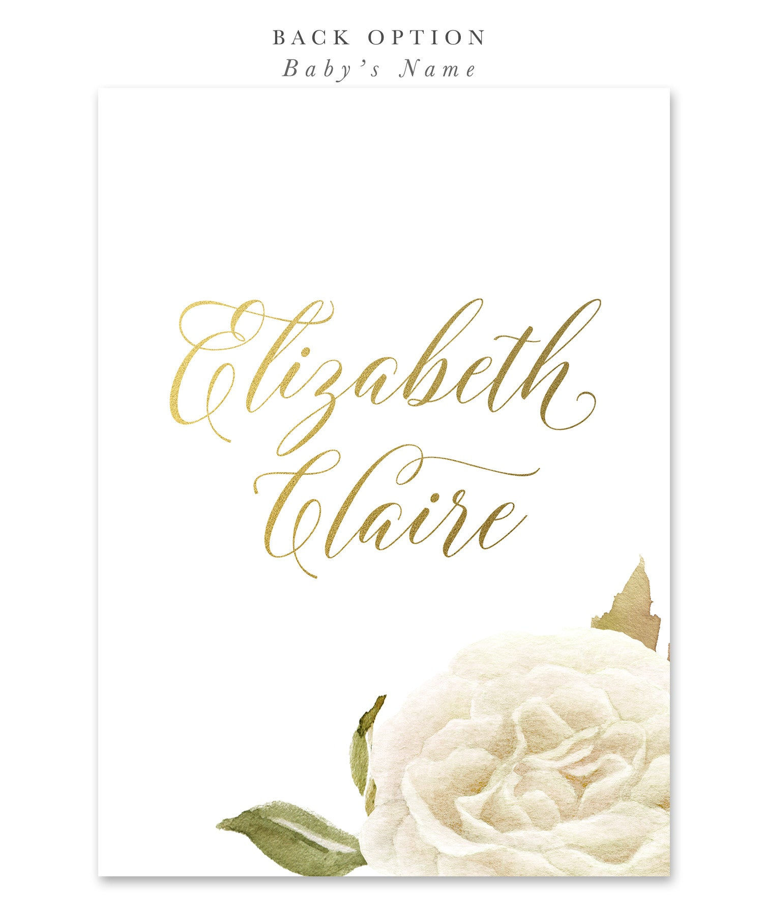 Everly boy or girls first holy communion invitation white everly boy or girls first holy communion invitation white watercolor roses gold kristyandbryce Choice Image