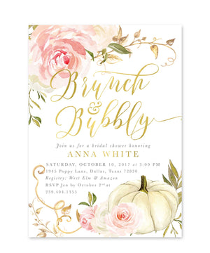Fall 11: Brunch & Bubbly, Bridal Shower Invitation {Pink}