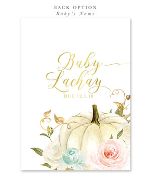 Fall 13: Pumpkin Gender Reveal Invitation