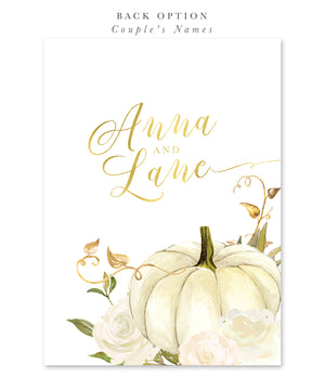 Fall 2: Fall In Love, Bridal Shower Invitation {White}