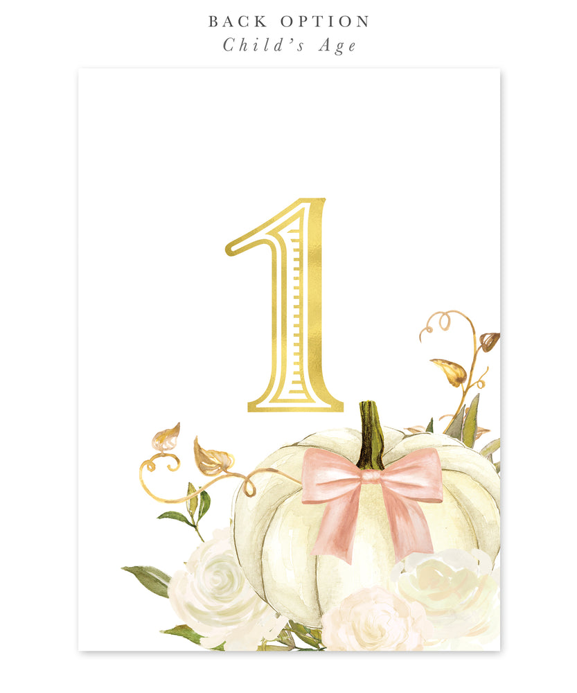 Fall 2: Pumpkin Spice & Everything Nice, Birthday Invitation {white & pink}