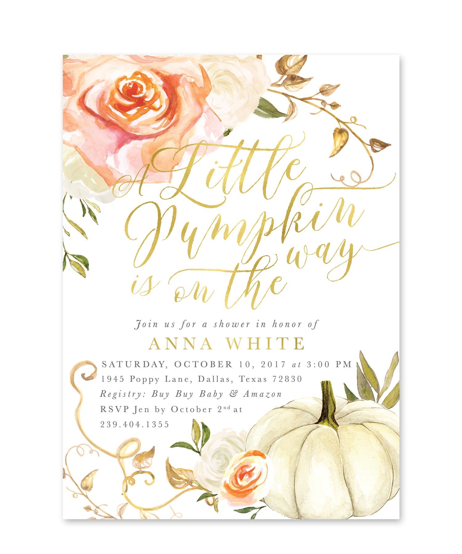 fall baby shower invitation pumpkin baby shower invite little