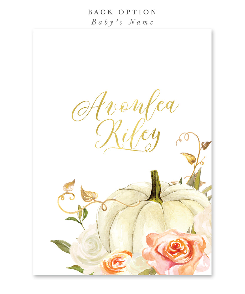 Fall 3: Little Pumpkin On The Way, Baby Shower Invitation {Orange}