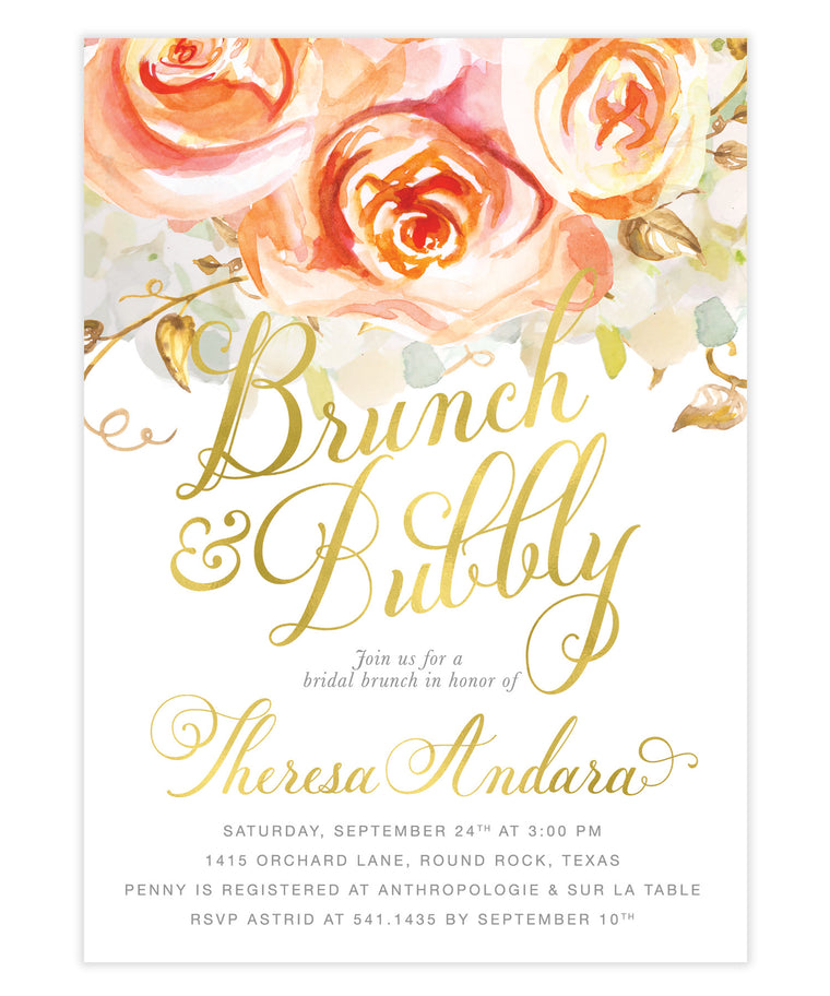 Fall Brunch & Bubbly Invitation