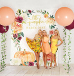 Little Pumpkin Baby Shower Backdrop {Vertical}