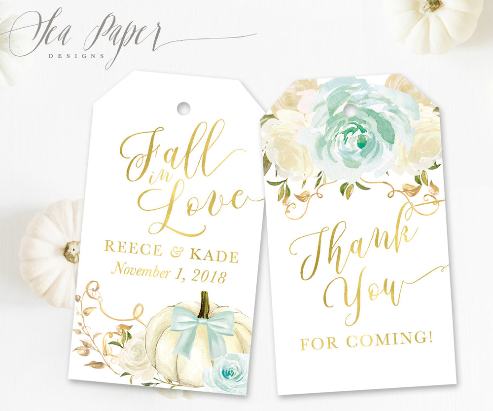 Fall 12: Favor Thank You Tags