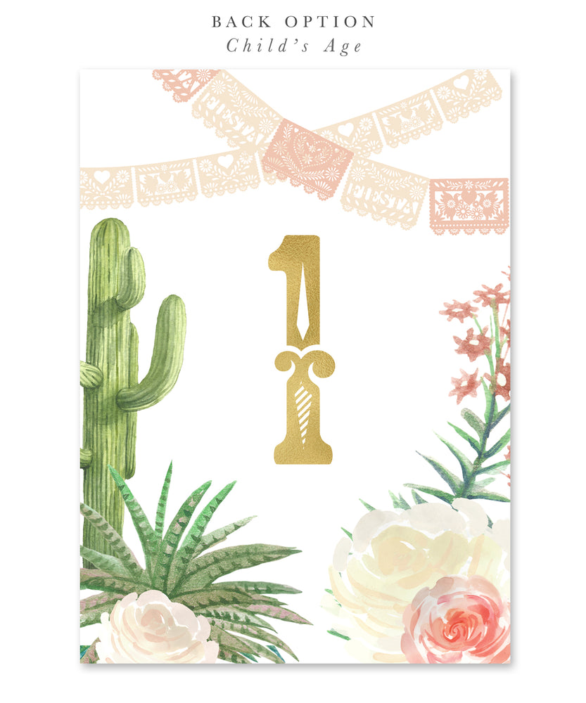 Carrie: First Fiesta First Birthday Invitation