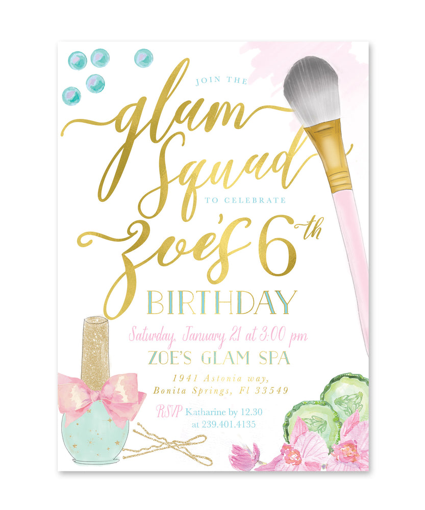 Spa Party: Girl's Glam Squad Birthday Party