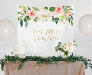 Charlotte: Blush Pink and White Backdrop {Horizontal}