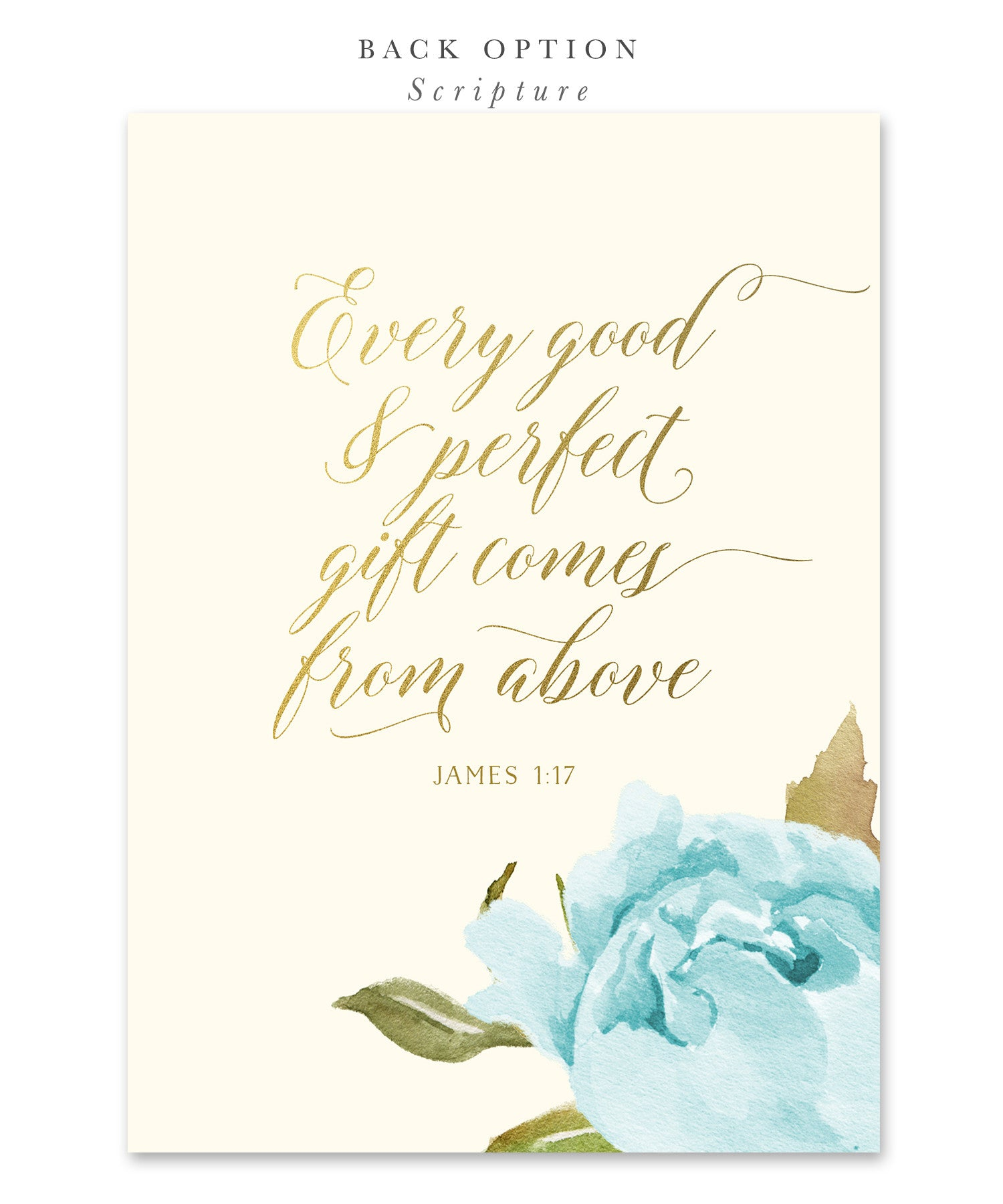 Henley Boy Confirmation Invitation Blue Roses Gold Sea Paper