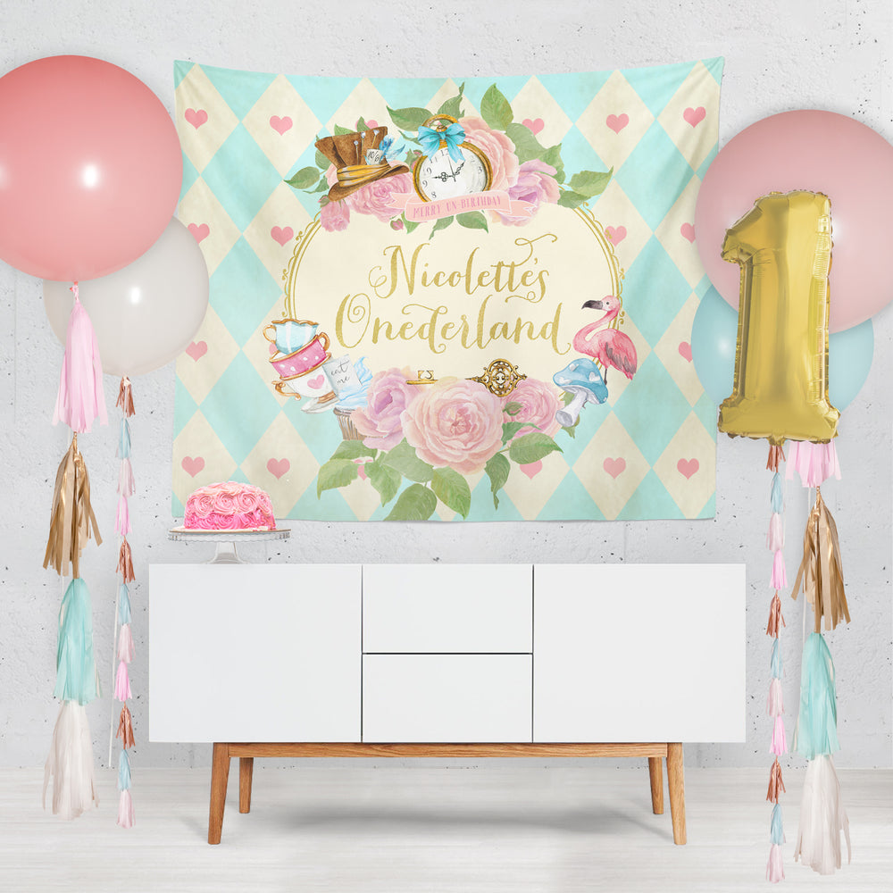 Alice: Alice in Wonderland Backdrop {Horizontal}