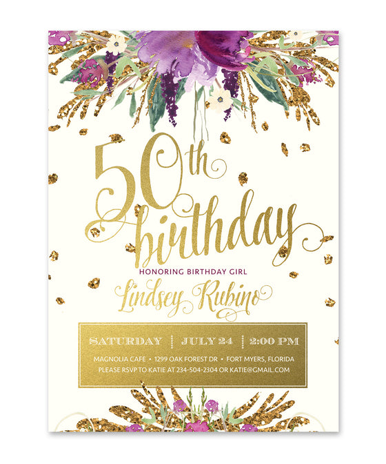 Iris: Birthday Invitation