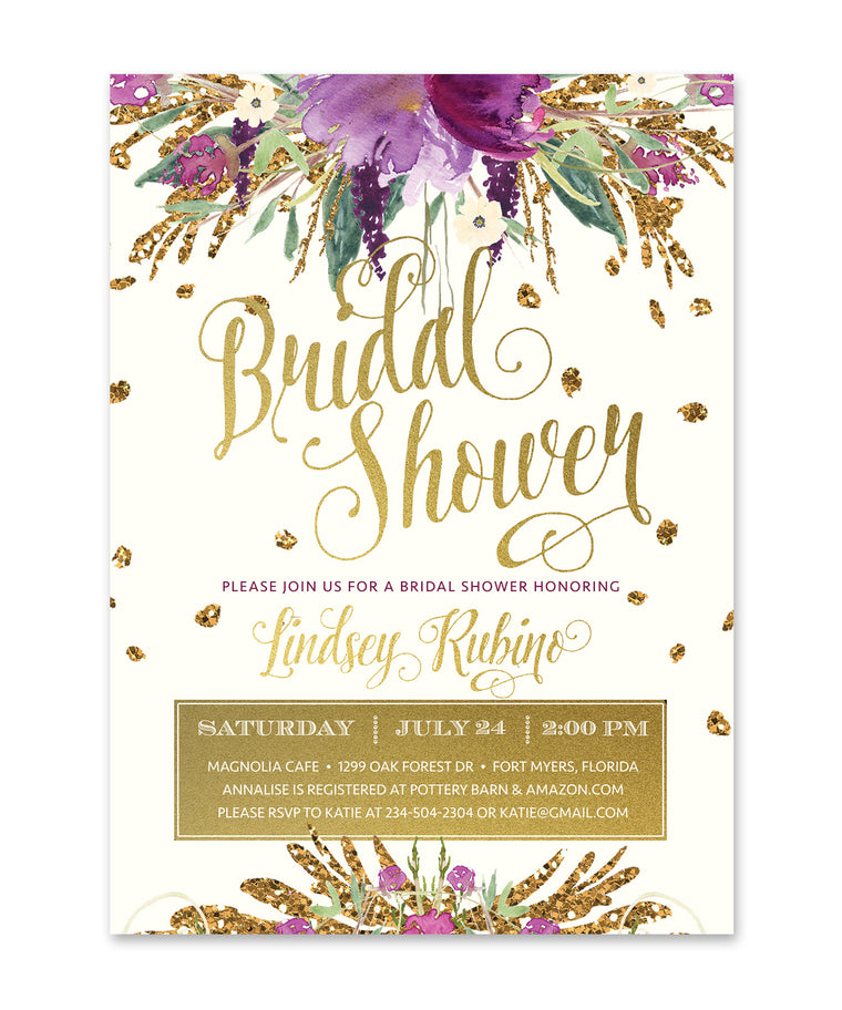 Iris: Bridal Shower Invitation