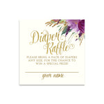 Iris: Diaper Raffle Enclosure Card