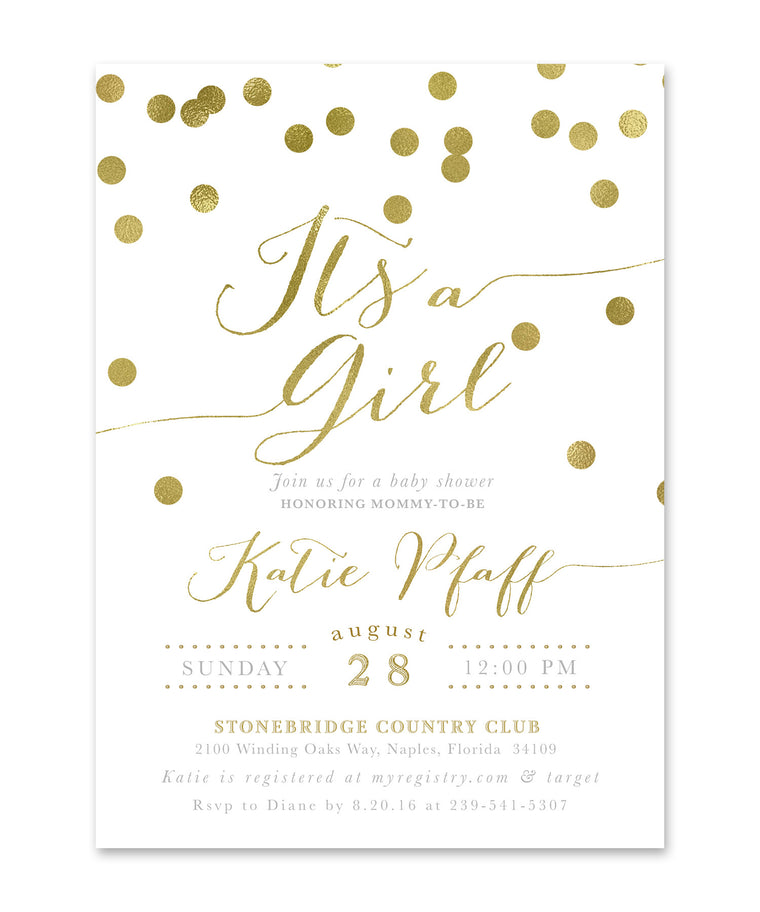"Katie: ""It's a Girl"" Invitation"