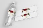 Kristen: Water Bottle Label {Burgundy}