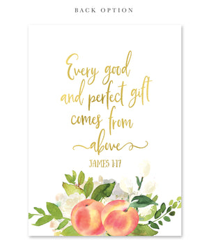 "Peach: ""Sweet As A Peach"" Baby Shower Invitation {Gold}"