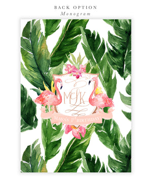 Maya: Tropical First Birthday Invitation {Rose Gold}