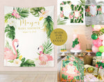 Maya: Tropical Flamingo Backdrop