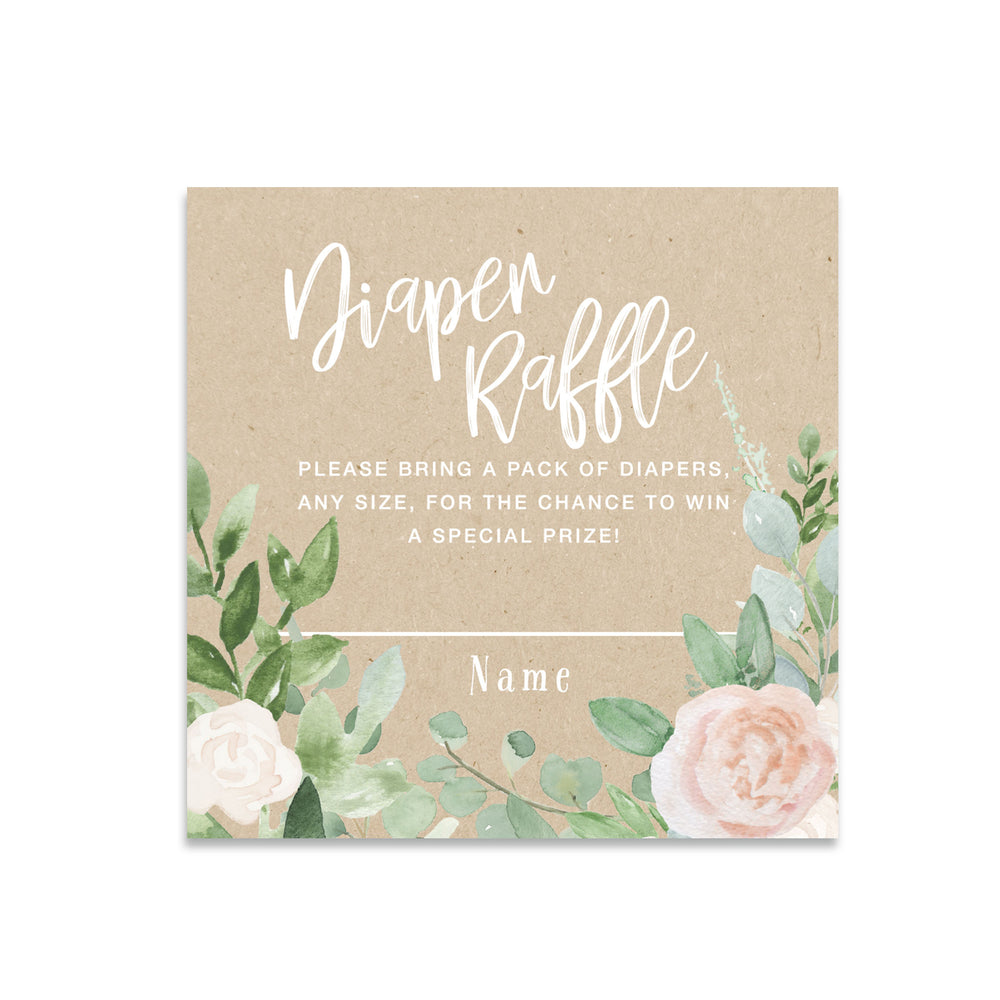 Mila: Diaper Raffle Enclosure Card {Kraft}