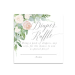 Mila: Diaper Raffle Enclosure Card {White}