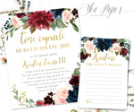Kristen Time Capsule Sign & Cards {Navy}
