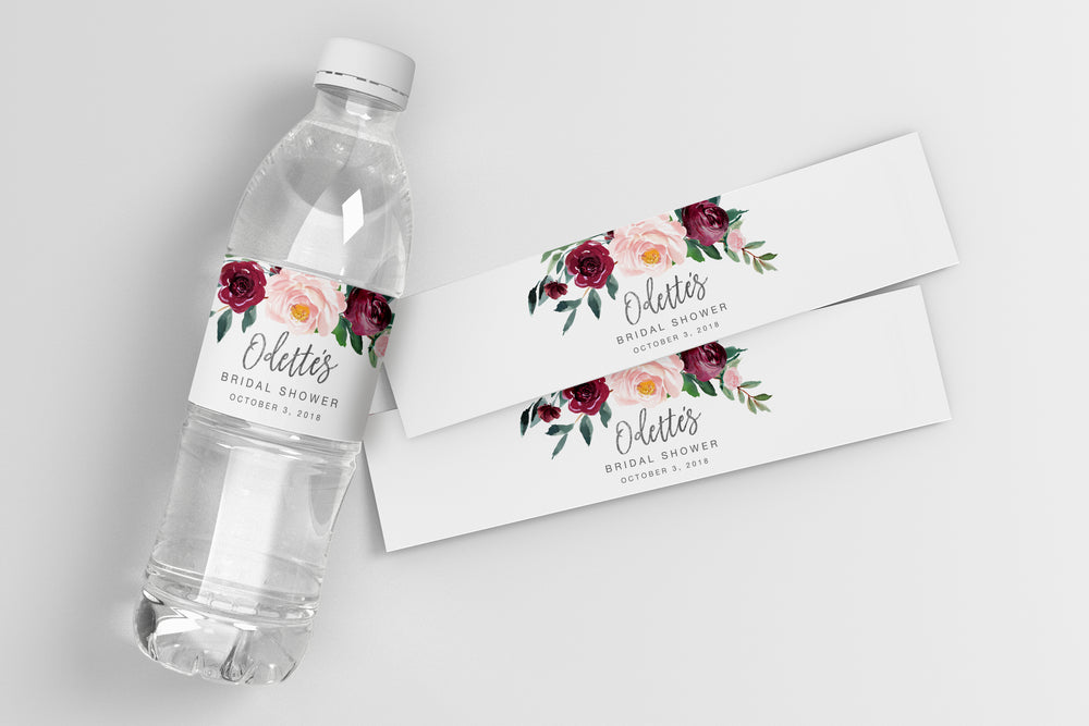 Odette: Water Bottle Label {Black}