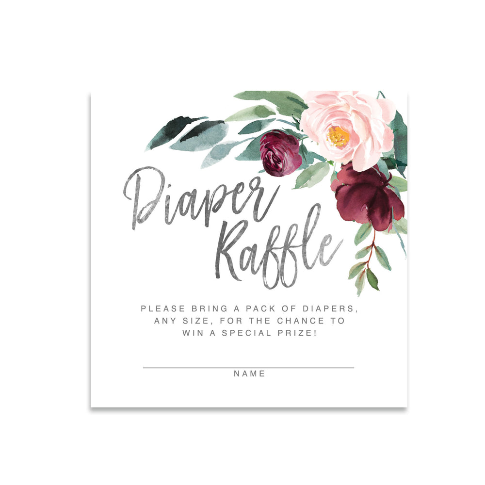 Odette: Diaper Raffle Enclosure Card {Black}