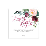 Odette: Diaper Raffle Enclosure Card {Burgundy}