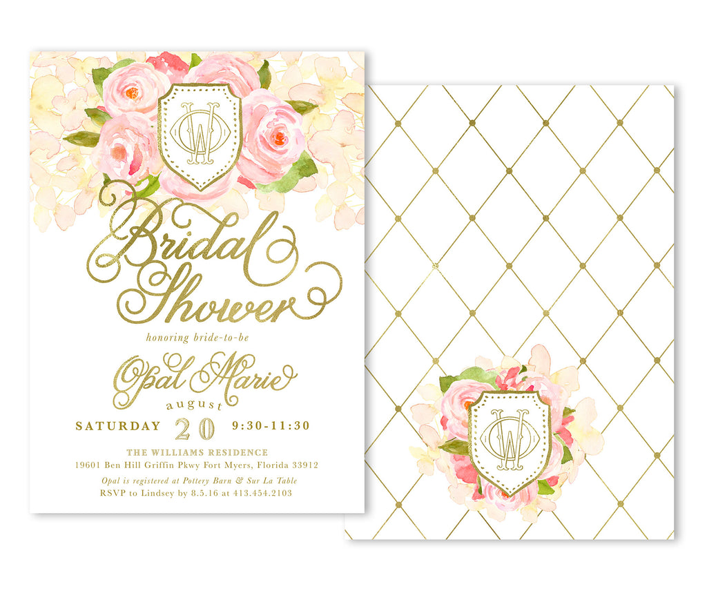 Opal: Bridal Shower Invitation