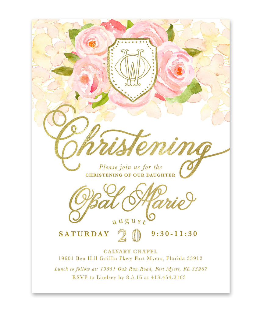 Opal: Christening Invitation