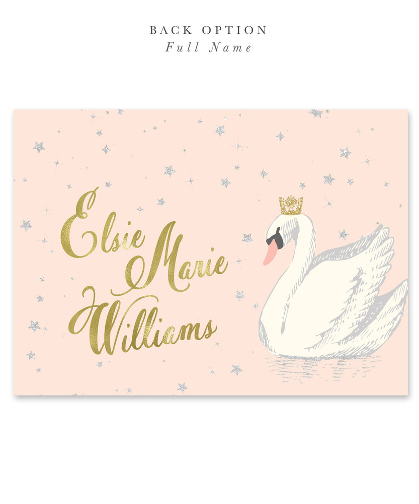 Elsie Swan Princess: Birthday Invitation {Blush Pink}