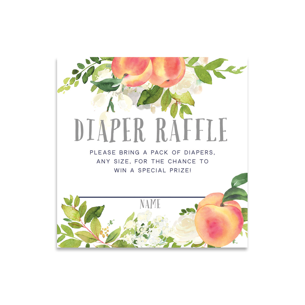 Peach: Diaper Raffle Enclosure Card {Gray}