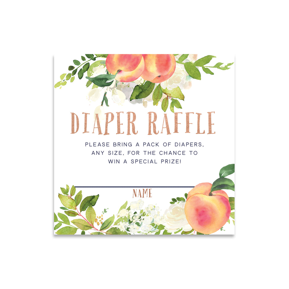 Peach: Diaper Raffle Enclosure Card {Rose Gold}