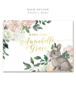 Penny: A Little Bunny is On the Way, Baby Shower Invitation {floral}