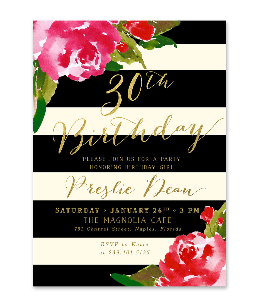 Preslie: Birthday Invitation