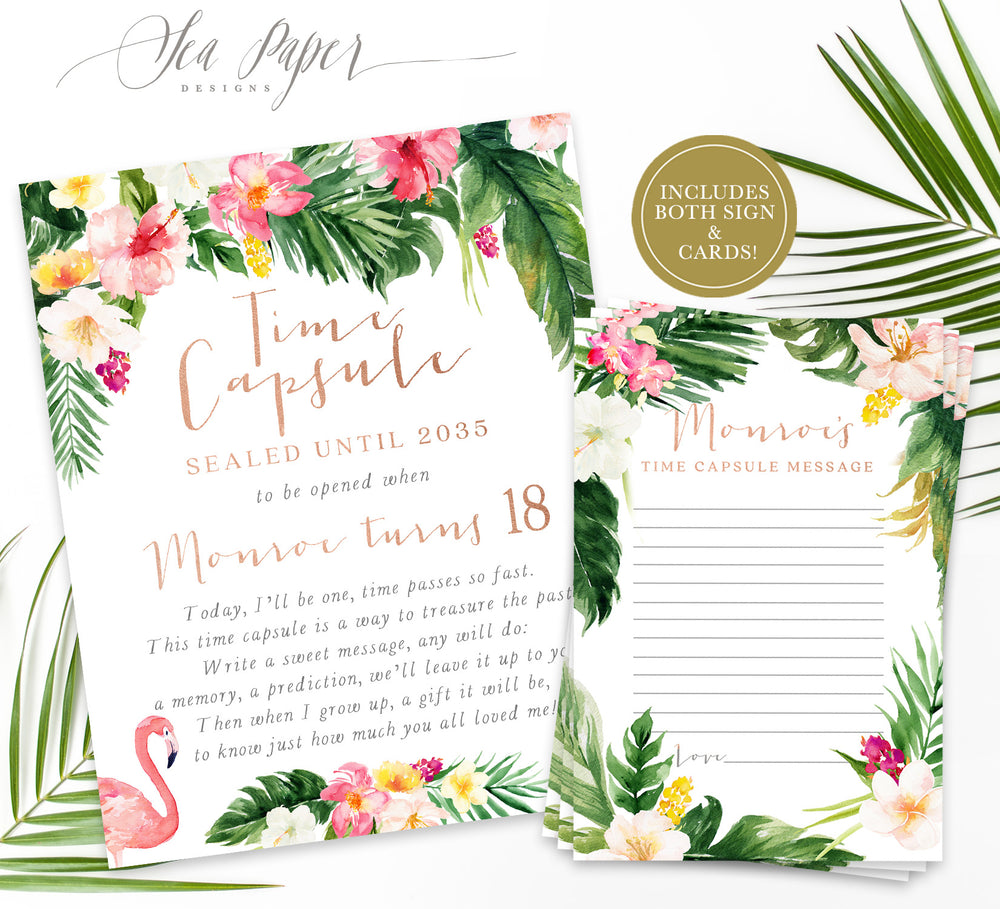 Maya Time Capsule Sign & Cards {Rose Gold}