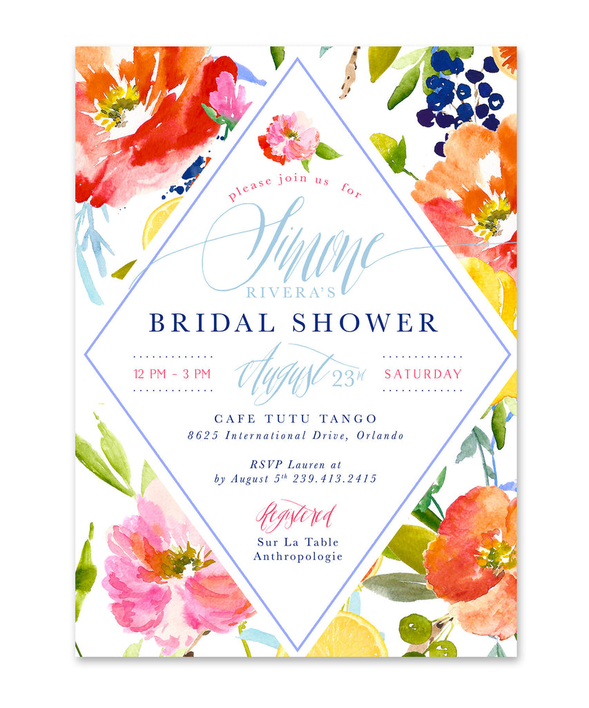 Simone: Bridal Shower Invitation
