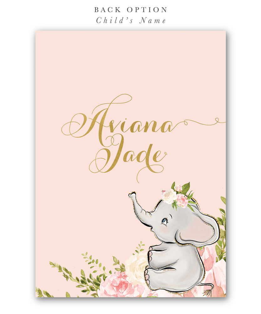 Sophia: Elephant Baby Shower Invitation