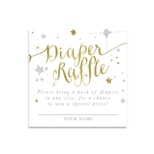 Star: Diaper Raffle Enclosure Card {White}