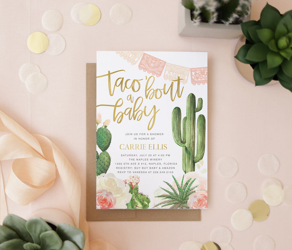 Taco 'Bout a Baby: Fiesta Baby Shower Invitation