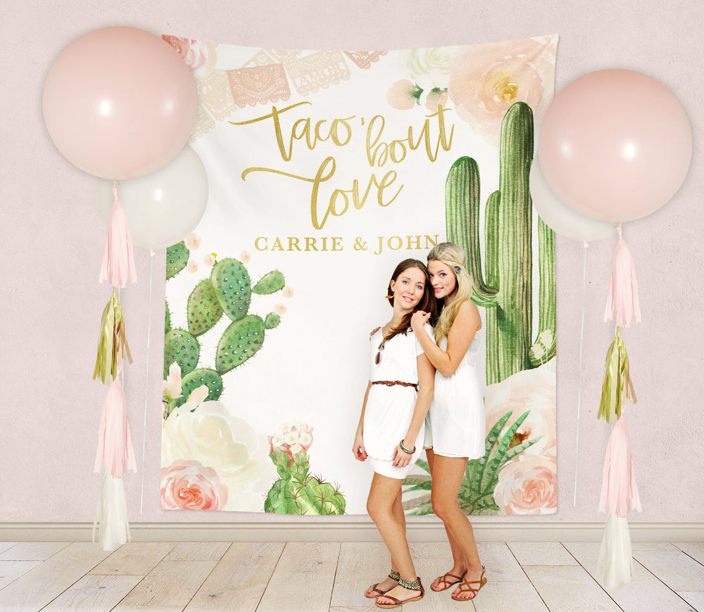 Carrie: Taco Bout Love Bridal Shower Backdrop