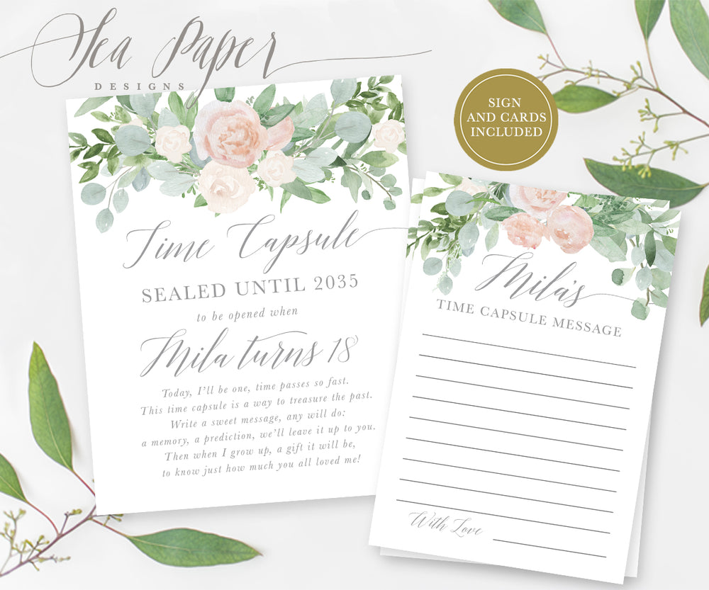 Mila Time Capsule Sign & Cards {White}