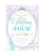 Addison: Snow Queen Birthday Invitation (Any Age)