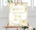 Floral Baby Shower Welcome Sign {Pumpkin}