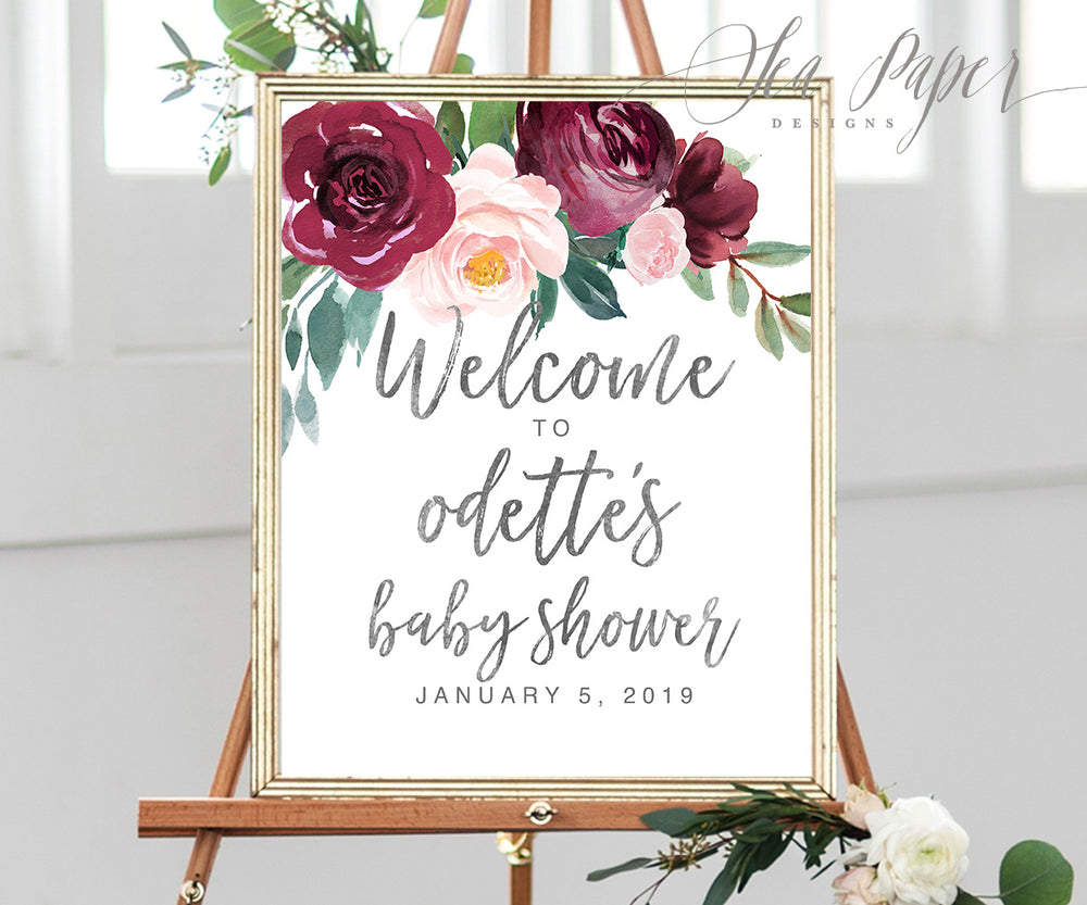 Odette: Welcome Sign {Black}