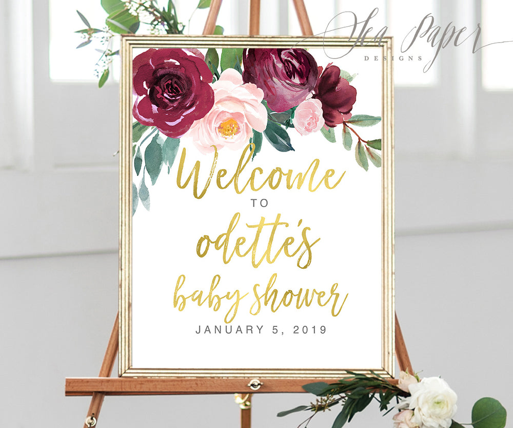 Odette: Welcome Sign {Gold}