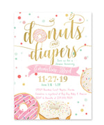 Donut: Donuts & Diapers Baby Shower Invitation